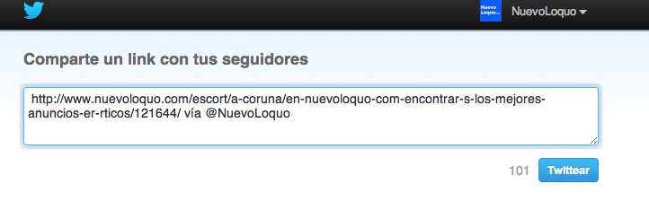 Twitter, nuevoloquo