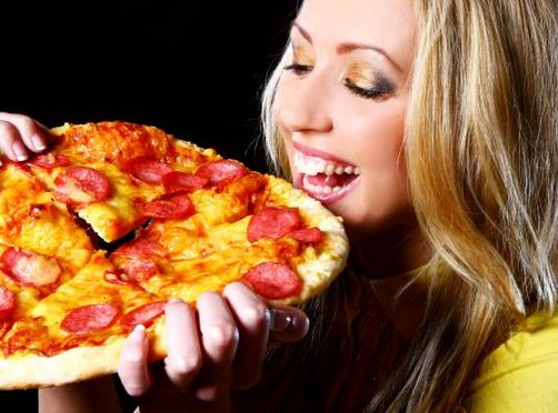 Vibrador y pizza